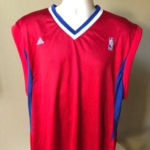 Adidas NBA Sleeveless Embroidered Logo Jersey